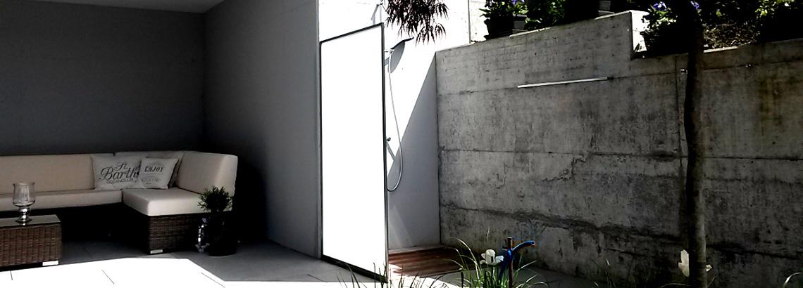 Duschen Festverglasung für Duschtrännwand