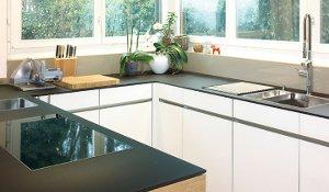 Küchenabdeckung und Glasrückwände