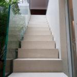 Glasgeländer im Treppenaufgang